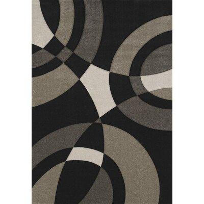 Townshend Black Smash Rug Rug Size: 710 x 112