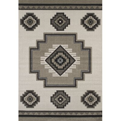 Townshend Cream/Brown Area Rug Rug Size: 53 x 76