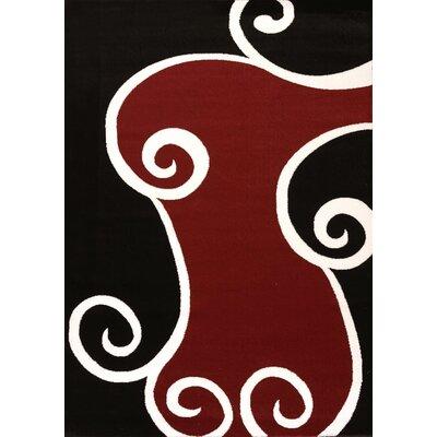 Cristall Black Sherry Rug Rug Size: 710 x 112