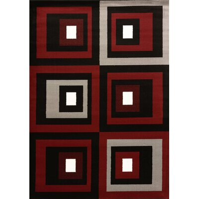 Cristall Red Studio Rug Rug Size: 710 x 112