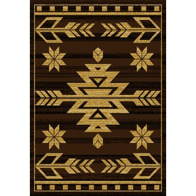 Sayre Brown Area Rug Rug Size: 5'3