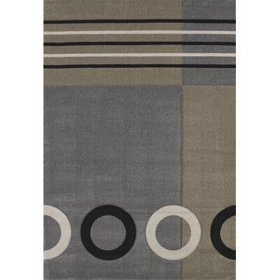 Townshend Grey Tommy Rug Rug Size: 53 x 76