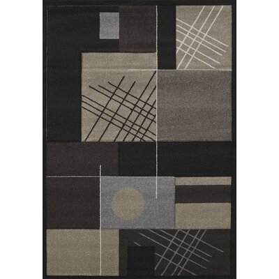 Townshend Black Touche Rug Rug Size: 53 x 76