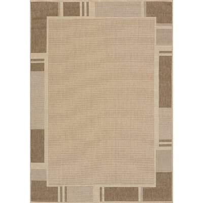 Solarium Beige Terrace Indoor/Outdoor Rug Rug Size: 53 x 76