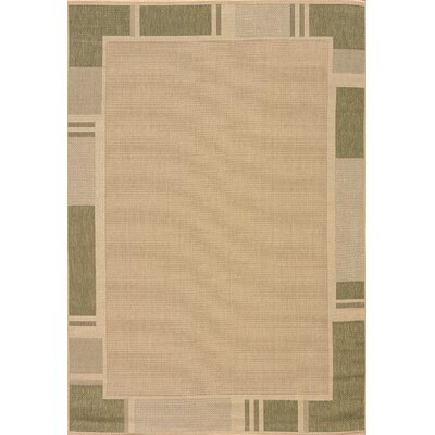 Solarium Green Terrace Indoor/Outdoor Rug Rug Size: 53 x 76