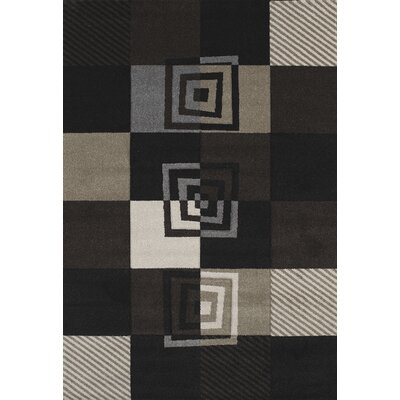 Townshend Black Vibes Rug Rug Size: 53 x 76