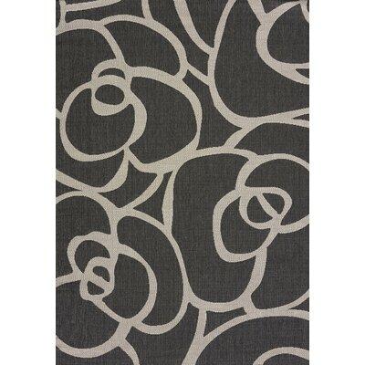 Solarium Silver Veranda Indoor/Outdoor Area Rug Rug Size: 53 x 76
