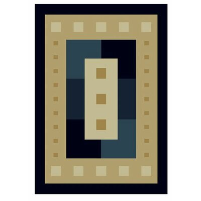 Manhattan Times Square Navy Area Rug Rug Size: 53 x 76