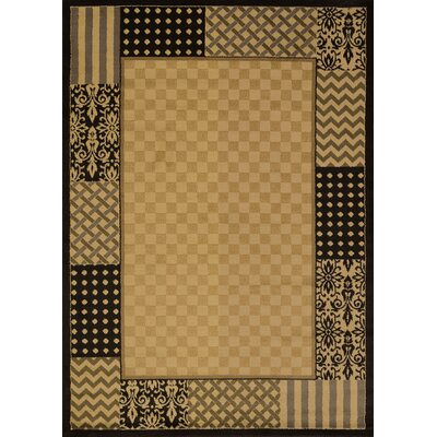 Affinity Country Kitchen Ivory Area Rug Rug Size: 53 x 72