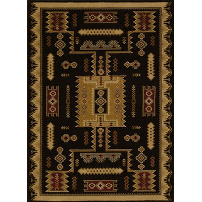 Affinity Colton Black Area Rug Rug Size: 53 x 72