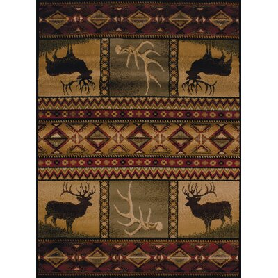 Sayre Lodge Ivory Area Rug Rug Size: Runner 111 x 72