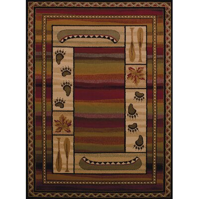 Affinity Canoe Sunset Lodge Brown Area Rug Rug Size: Runner 111 x 72