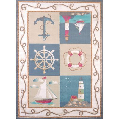 Regional Concepts Maritime Coast Blue Area Rug Rug Size: Rectangle 110 x 3