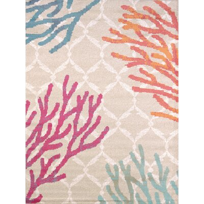 Keyla Tropical Reef Area Rug Rug Size: Rectangle 53 x 72