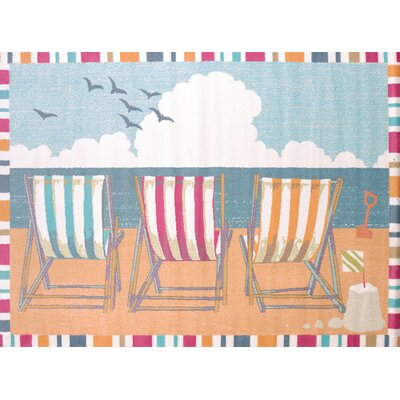 Regional Concepts Seaside Chairs Area Rug Rug Size: Rectangle 53 x 72