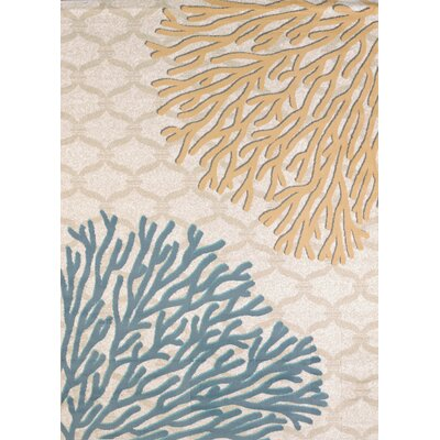 Modern Texture Coral Reef Harvest Area Rug Rug Size: Rectangle 53 x 72