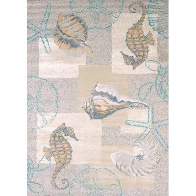 Modern Texture Mystic Sea Natural Area Rug Rug Size: Rectangle 53 x 72