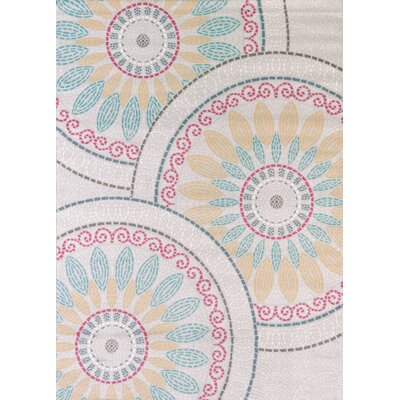Modern Texture Sun Deck Natural Area Rug Rug Size: Rectangle 53 x 72