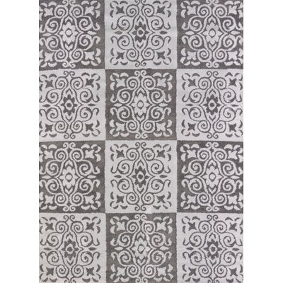Modern Texture Velvet Cube Silver Area Rug Rug Size: Rectangle 53 x 72