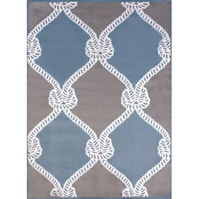 Modern Texture Cordage Blue Area Rug Rug Size: Rectangle 53 x 72