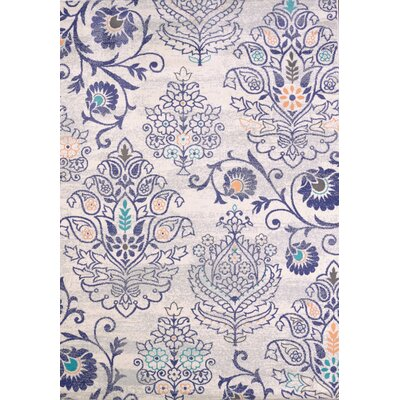 Marquee Blue/Beige Area Rug Rug Size: 53 x 72