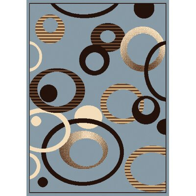 Dallas Hip Hop Blue Area Rug Rug Size: 53 x 72