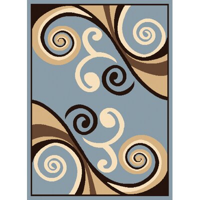 Dallas Billow Blue Area Rug Rug Size: 23 x 72