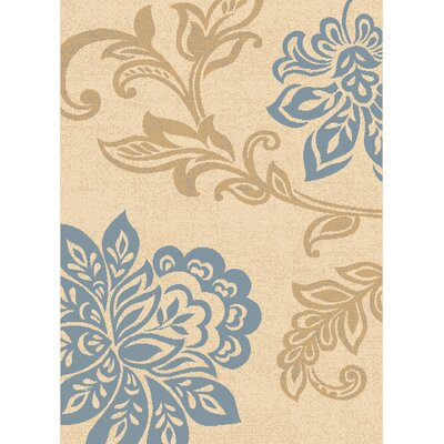 Dallas Trouseau Blue/Beige Area Rug Rug Size: 111 x 33