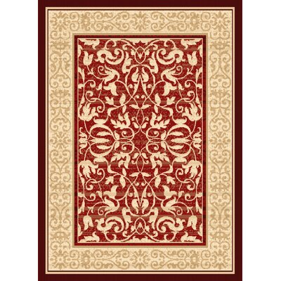 Jeppesen Red Area Rug Rug Size: 5'3