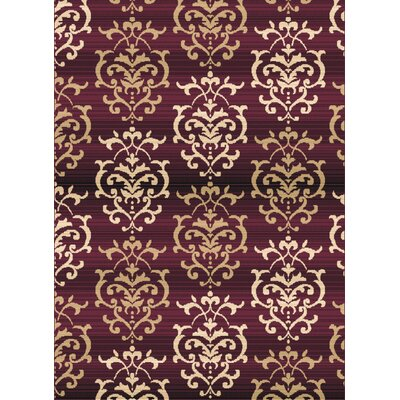 Dallas Countess Burgundy/Beige Area Rug Rug Size: 710 x 106