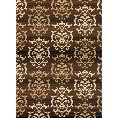 Dallas Countess Brown Area Rug Rug Size: 53 x 72