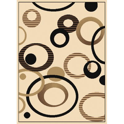 Dallas Hip Hop Ivory Area Rug Rug Size: 53 x 72