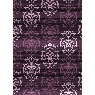 Dallas Countess Plum Area Rug Rug Size: 23 x 72