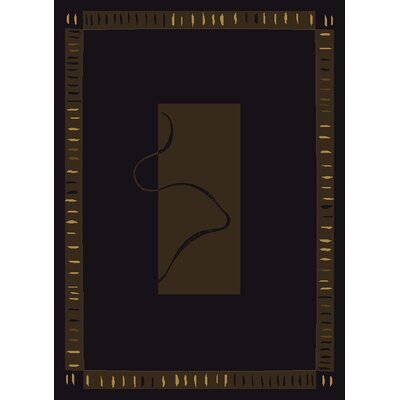 China Garden Vanguard Black Area Rug Rug Size: Runner 111 x 72