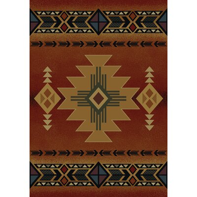 Julieta Auburn South Western Arizona Crimson Area Rug Rug Size: Rectangle 710 x 106