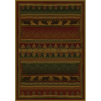 Genesis Bearwalk Lodge Area Rug Rug Size: Runner 111 x 74