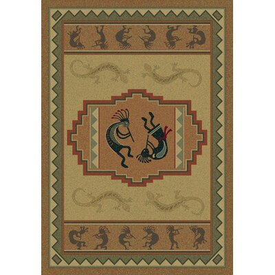 Genesis Ancient Icon Natural Area Rug Rug Size: Runner 111 x 74