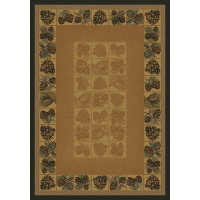 Click to buy Cabin Rugs: United Weavers Pine Cones Rug from Wayfair!