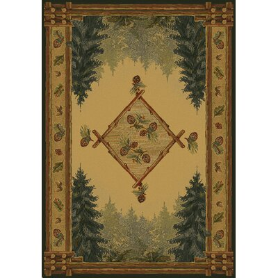 Genesis Yellow Forest Trail Lodge Area Rug Rug Size: 53 x 76