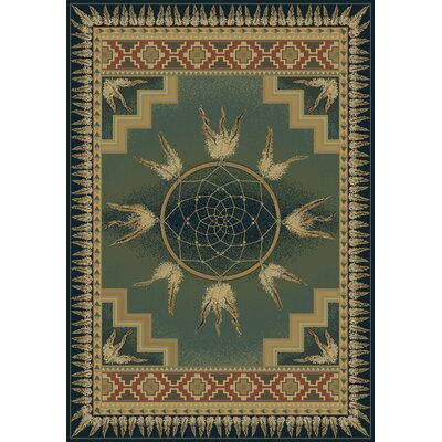 Genesis Catcher Blue/Green Southwestern Area Rug Rug Size: Rectangle 311 x 53