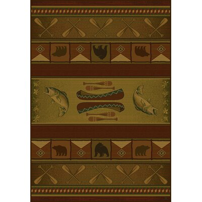 Genesis Green Colorado Lodge Area Rug Rug Size: 53 x 76