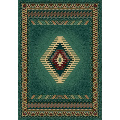 Hyacinthe Tucson Green Area Rug Rug Size: Runner 111 x 74