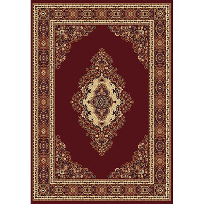 Manhattan Cathedral Burgundy Area Rug Rug Size: 710 x 106