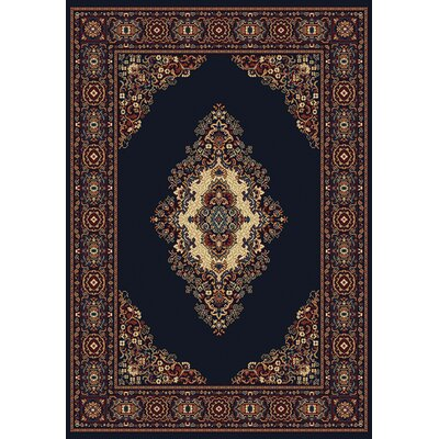 Manhattan Cathedral Navy Area Rug Rug Size: 110 x 3