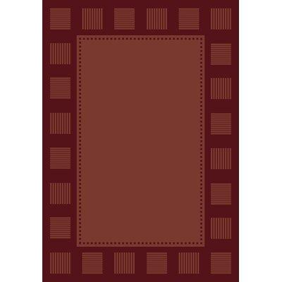 Finnegan Burgundy Area Rug Rug Size: Runner 111 x 74