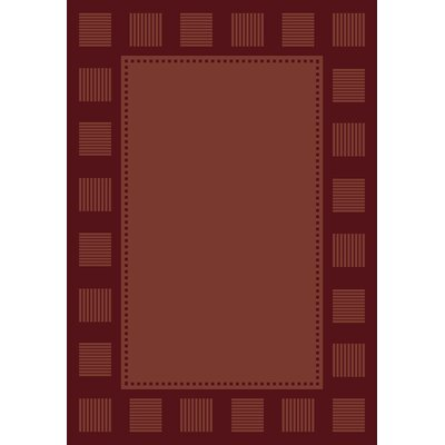 Finnegan Burgundy Area Rug Rug Size: 311 x 53