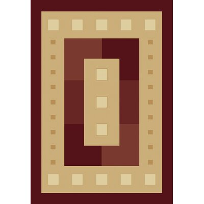 Manhattan Times Square Burgundy Area Rug Rug Size: Runner 111 x 74