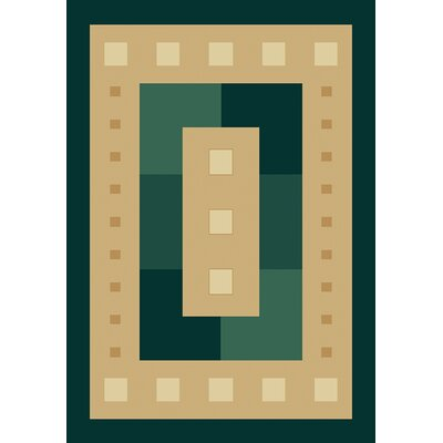 Finnegan Times Square Beige Area Rug Rug Size: 53 x 76