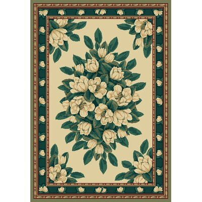 Manhattan Magnolia Cream Area Rug Rug Size: 53 x 76