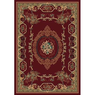 Manhattan Lexington Burgundy Area Rug Rug Size: 53 x 76